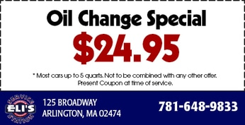 Oil Change Coupon at Elis Service in Arlington, MA